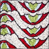 Ravenna - Motivo del pavimento in marmo della Basilica di San Vitale