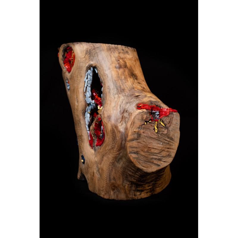 Olive wood sculpture